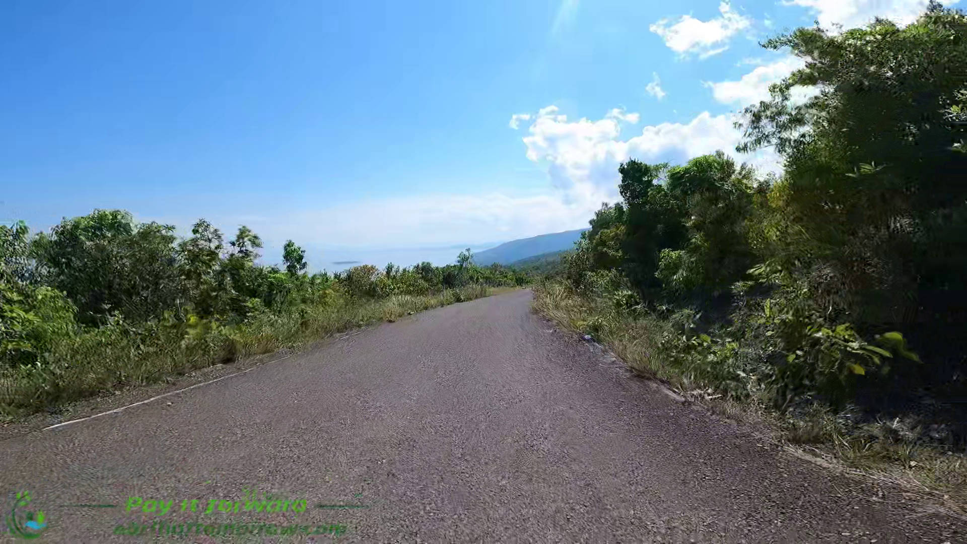 driving form ginatilan mountain to oslob