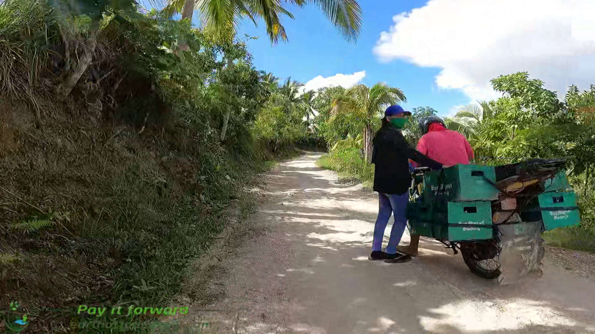 driving motorcycle from Ginatilan mountain to Moalboal